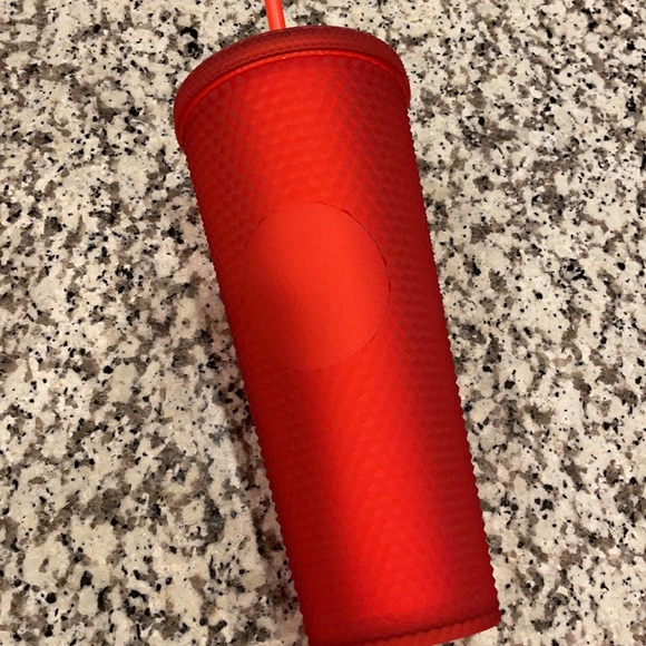 Starbucks studded soft touch red tumbler
